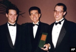 Francisco Ayala with sons, Carlos [left] and Jose [right], in 1995.