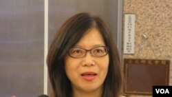台湾执政党民进党立委管碧玲(美国之音张永泰拍摄)
