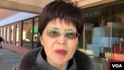韩国瑜国政顾问团成员、台湾中山大学政治学教授廖达琪在马里兰州接受美国之音采访。(2019年12月7日)