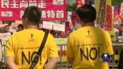 香港泛民、建制民众投票前造势