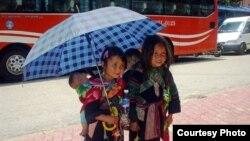 Trẻ em sắc tộc thiểu số tại Lào Cai. (Photo by Bùi Thụy Đào Nguyên/Vietnam/VOA reader)