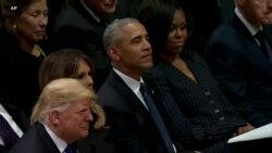 老布什总统国葬仪式周三举行 小布什动情表达哀思
