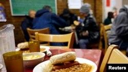 미국 뉴욕시의 무료 급식소. (자료사진)
