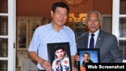 Thiếu tướng Charles Frank Bolden Jr. (phải) và Trung tướng không quân Việt Nam Phạm Tuân gặp nhau vào trung tuần tháng 6/2019. Photo Đại sứ quán Hoa Kỳ tại Hà Nội.