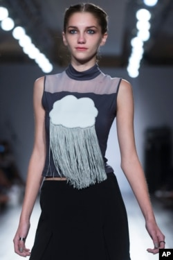 Isabella Rose Taylor presented her Spring 2015 collection at a New York Fashion Week show Tuesday.
