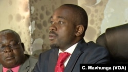 FILE: Nelson Chamisa, leader of the pposition Movement for Democratic Change, Jan. 29, 2019.