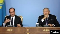 Франсуа Оланд и Нурсултан Назарбаев (Фото из архива)