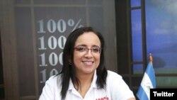 Lucía Pineda Ubau, jefa de información del confiscado canal de televisión 100% Noticias.