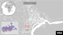 Map: Bangui, Central African Republic