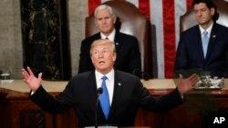 도널드 트럼프 미국 대통령은 지난해 1월 첫 국정연설에서 북한의 인권 탄압을 강하게 규탄했다.