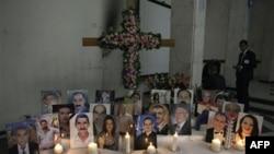 Поминальные свечи в христианской церкви Багдада