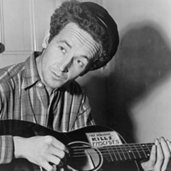 Woody Guthrie sang songs that described the conditions at farm worker camps.