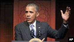 """El presidente Barack Obama dijo que """"cristianos, judíos y musulmanes, todos son hijos de Dios""""."""
