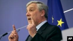 Antonio Tajani, Ketua Parlemen Uni Eropa (foto: dok).