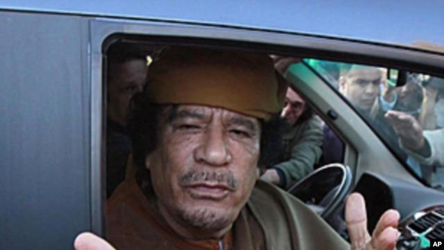 Libyan leader Moammar Gadhafi (April 2011 file photo)