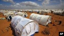 Saansanin 'yan gudun Hijira na MDD dake Dadaab, gabashin kasar Kenya mai tazarar kilomita 62 daga kan iyakar kasar Somaliya.