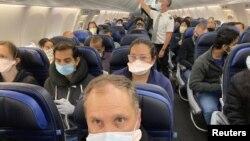 Hành khách trên một chuyến bay của hãng United Airlines.
