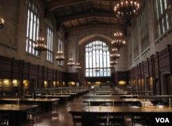 密西根大学法学院阅览室(资料照)