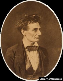 Abraham Lincoln 1857 by Alexander Hessler