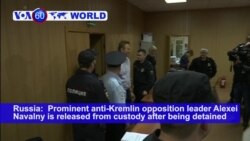 VOA60 World PM - Russia: Prominent anti-Kremlin opposition leader Alexei Navalny is released from custody