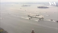 სამხედრო გემი და ახალი დროებითი საავადმყოფო - ვითარება ნიუ-იორკში
