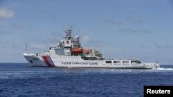 Tàu hải giám Trung Quốc trong khu vực Bãi Cỏ Mây ở Biển Đông, nơi có tranh chấp chủ quyền với các nước. Chuyên gia của Nga nói Biển Đông không phải là một ưu tiên trong chính sách đối ngoại của Nga.