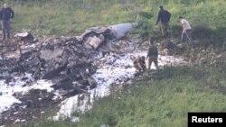 На місці, де впав збитий сирійською артилерією ізраїльський літак