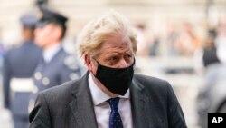 British Prime Minister Boris Johnson in London, Sept. 19, 2021.