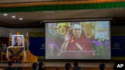 西藏精神領袖達賴喇嘛在印度通過視頻發表86誕辰講話(2021年7月6日)