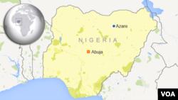 Lokasi kota Azare, di negara bagian Bauchi, Nigeria timur (foto: ilustrasi).