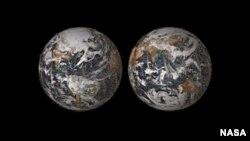 La peculiar imagen de nuestro planeta fue creada con 36 mil 422 fotos personales.