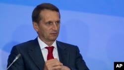 Глава российской Службы внешней разведки Сергей Нарышкин