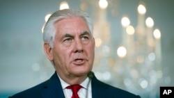 Ngoại trưởng Mỹ Tillerson phát biểu tại Bộ Ngoại giao, 4/10/2017