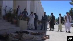 發生激烈戰鬥的省長辦公區現場。