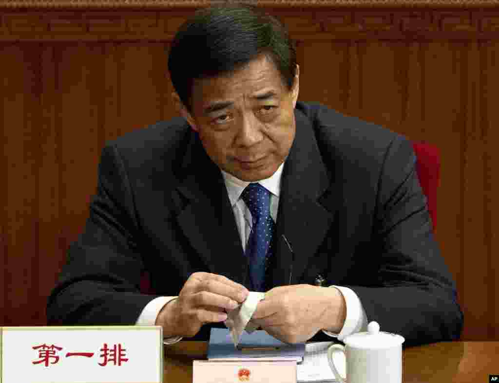 올해 3월 베이징에서 열린 전국인민대표대회에 참석한 보시라이 전 충칭시 당서기.