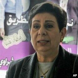 FILE - Dr. Hanan Ashrawi, former Palestinian official.