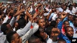 Une manifestation à Mogadiscio, Somalie, 8 décembre 2017.