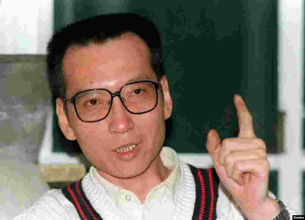 中國學者劉曉波在1995年3月接受採訪