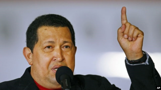 Venezuela's President Hugo Chavez speaks after arriving from Cuba at Simon Bolivar airport in Caracas, Venezuela, March 16, 2012.
