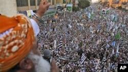 کراچی میں مذہبی جماعتوں کا مظاہرہ (فائل فوٹو)