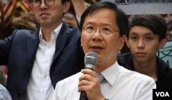 香港公民黨立法會議員郭家麒。(美國之音湯惠芸)