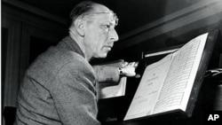 Игорь Стравинский. Бостон 12 января 1944 года.