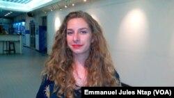 Laure Dominguel, assistante culturelle à l'Institut français de Yaoundé