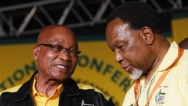 President Zuma speaks with Deputy President Motlanthe at start of 53rd National Conference of ruling ANC in Bloemfontein, December 16, 2012.