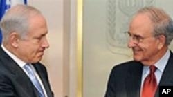 以色列总理内塔尼亚胡会晤美特使米切尔