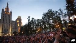 Москва. Акция протеста на Баррикадной.