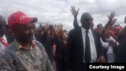Abasekeli bebandla leMDC Alliance besamukela umkhokheli wabo eGweru. (Umfanekiso Ogciniweyo)