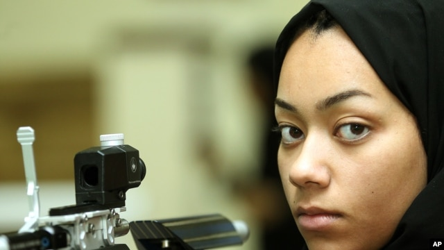 Qatari shooter Bahiya Al Hamad is one of four women to represent her country for the first time (courtesy of - dohastadiumplus.com).)