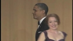 奥巴马白宫记者晚宴尽情调侃自己2
