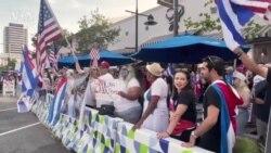 Кубинцы Калифорнии протестуют
